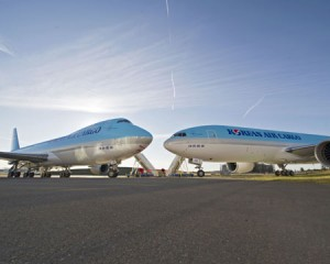 Korean Airlines KAL Dual Delivery 747-8I & 777-300