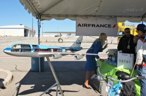Air France/KLM booth...