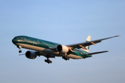 Cathay Pacific Boeing 777-367ER B-KPF in green Hong Kong, Asia's World City livery